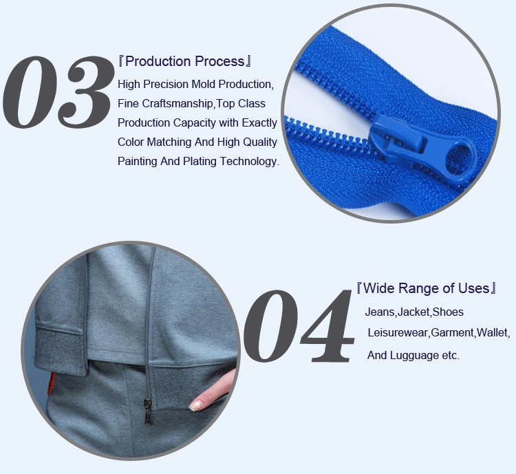 Nylon Zipper Open End Plastic top Stop 5# Zippers ZN20009