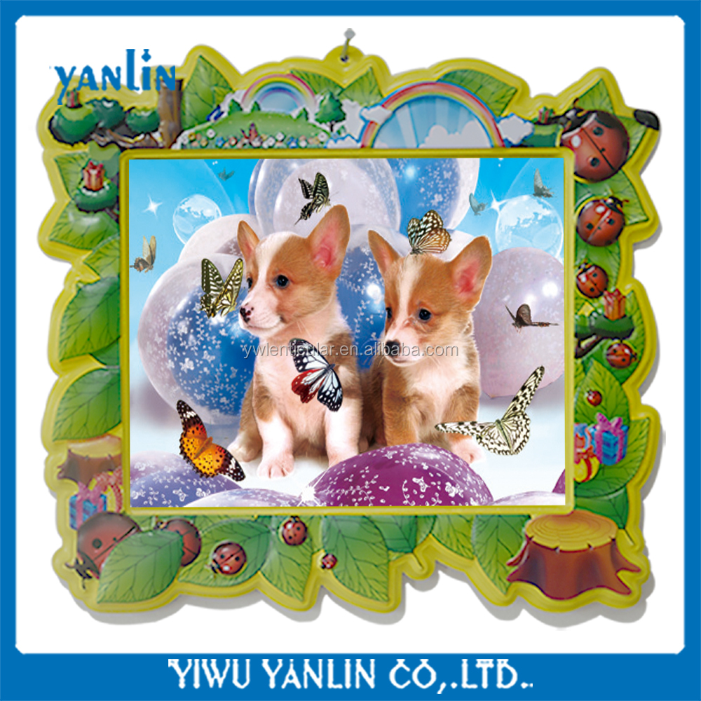 3d animals pictures with plastic cartoon frames hot sale supermarket products