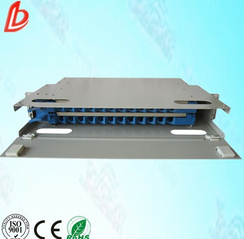 19 inch,2U patch pannel with 24 core fiber optic ODF distribution