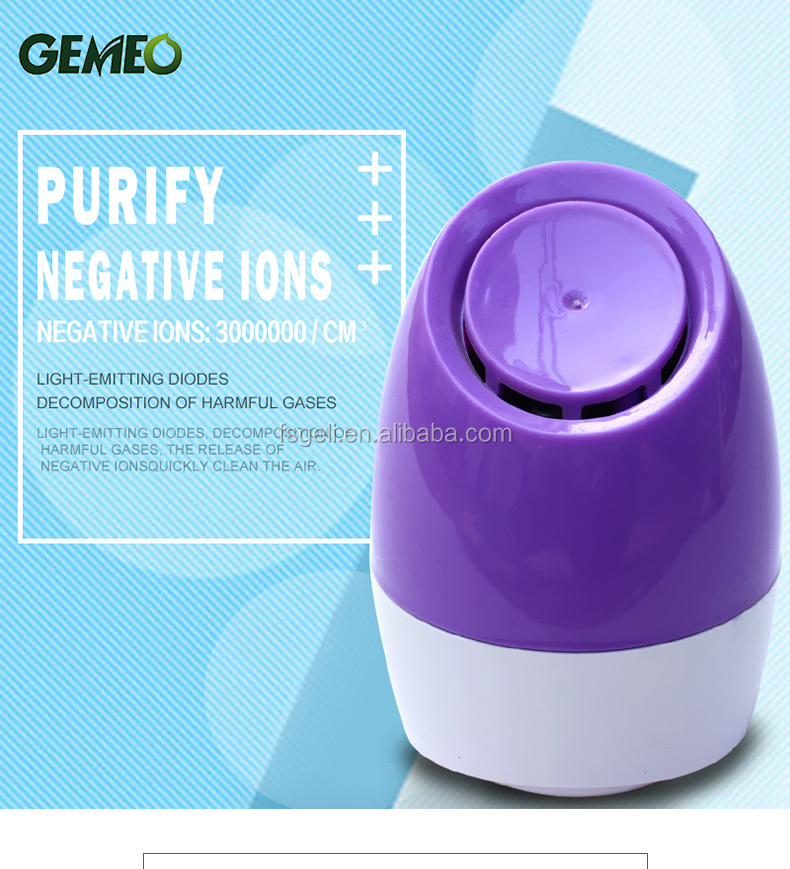 Factory price cheap air purifier china car air purifier ionizer mini air purifier GL-3108