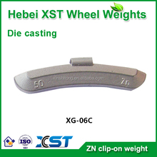 zn wheel weights and clips for alloy rims
