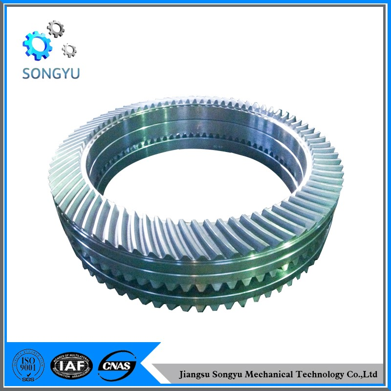 hot rolled casting carbon steel helical gear ring gear