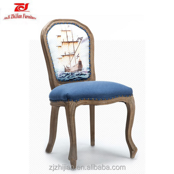 Cheap French Country Wooden Dinind Chair Types of Antique Curved Wooden Chairs