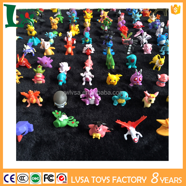 144 Designs PVC Matarial Pokemon Figure Mini Pokemon Go Set Action Figures