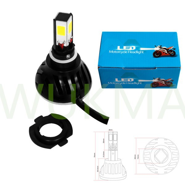 Motorcycle / car accessories 24W H4 H6 H7 universal 4 side motorcycle led headlight for fz16 bajaj 150cc pulsar motor M4-led