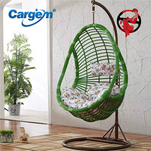 Colorful Hanging Rattan Swing Bubble Chair Garden
