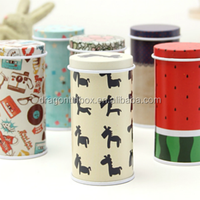 Food Grade Coffee Tea Tin Boxes Snack Food Containers