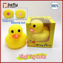 Temperature measuring bath toy eco yellow bath vinyl ducks