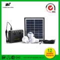 Top Quality Mini Portable Rechargeable Solar Panel System Three Led Bulbs Mobile Charger Solar Home System No Electricty Use