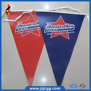 Colorful outdoor party pvc fabric string pennant bunting triangle flags