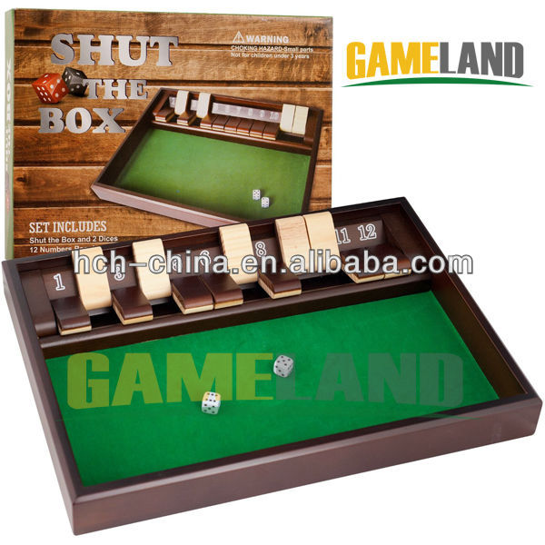 Shut The Box (1-10) Zero Out Game Wooden Game