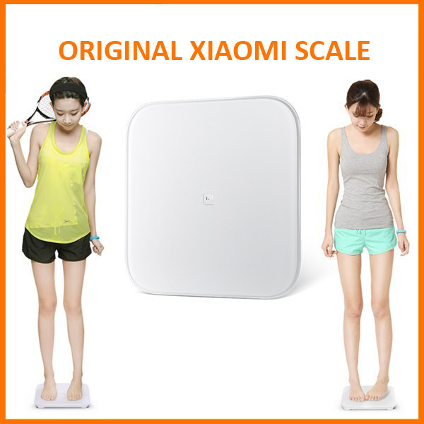 100% Original Xiaomi Smart Scale For Android iOS Devices White Color