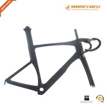Cheap Full monocoque aerodynamic carbon fiber bike frameset for road bicycle
