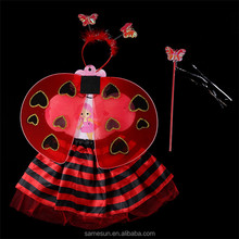 Lovely Red Heart Fairy Wings Tutu Costume