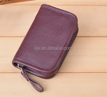 2017 Christmas Gift Mini Leather Wallet Supplier
