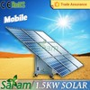 Mobile 1500w china solar panel price for sale