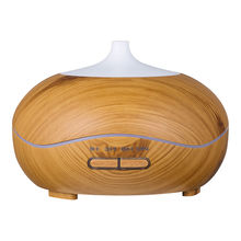 300ml Aroma Essential Oil Diffuser,New Wood Grain Ultraso Humidifier for Office Home Bedroom Living Room Study Yoga Spa