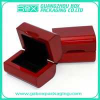 glossy wooden ring jewelry box