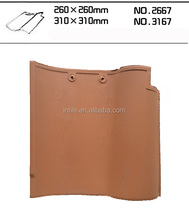 New Spanish big size 310x310mm clay color ceramic roofing tiles price