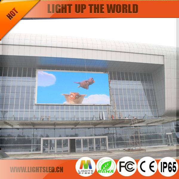 best price HD P10 Full Color outdoor Advertising LED Display large Screen/panel manufacturer