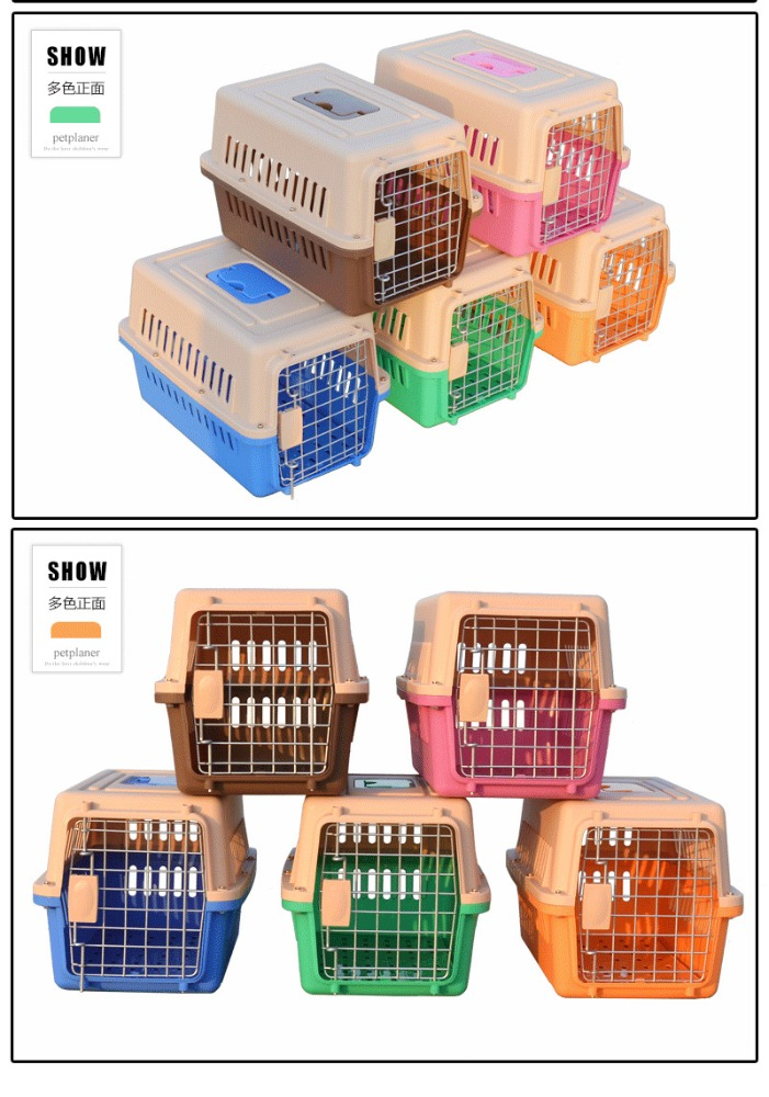 High Quality Strong Pet Carrier Plastic Pink Wholesale