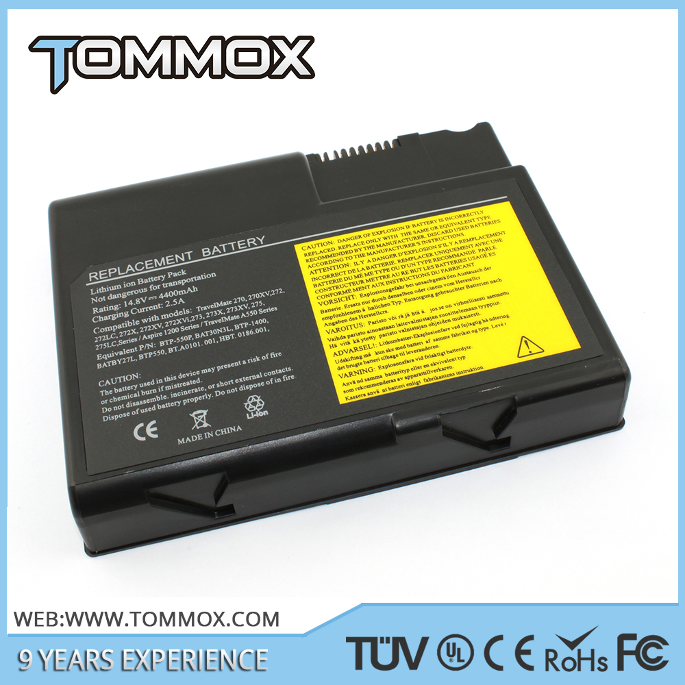 Tommox CE Li-ion high quality Laptop power Battery for Acer 270 272 A550 1200 BAT30N3L BTP-550 Series 4400mah