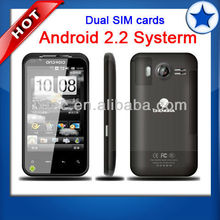 Android 2.2 cell phone with 4 inch touch sceen dual sim G2