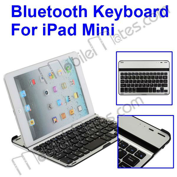 High Quality Ultra Slim Aluminum Alloy Bluetooth 3.0 Keyboard For iPad Mini Bluetooth Keyboard