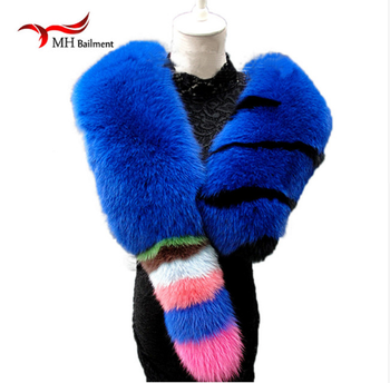 2018 new fur fox scarf, support for private custom