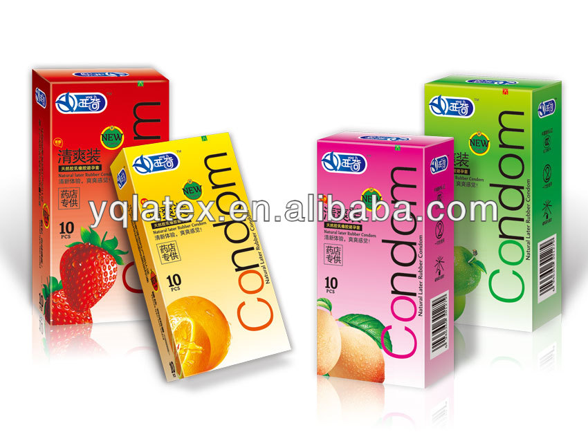 fruit flavor male latex condom with Yaqi Brand