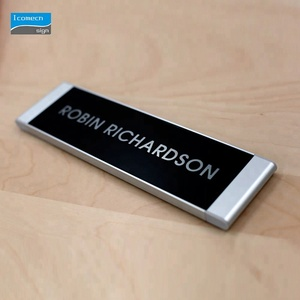 Building Hotel Apartment Room Door Brushed Stainless Steel Doorplates Door ID Number Sign