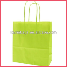 Wholesale recycled paper trendy lime green paper bags