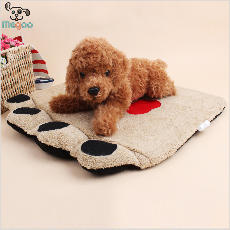 3pcs/lot Puppy Mats Foam /PP Cotton Padded Paw Shaped Dog Bed Cushion