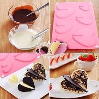 Pink Color Sweet Love Hearts Chocolate Cake Mold Silicone Muffin Jelly Candy Baking Bakeware Mould