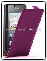 Cell phone leather case for huawei ascend u8833 y300