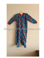 Girls Navy/Blue Striped Zip Up Footed Pajama/100% Polyester Slppewear/Fleece Footie Onesie, baby onesie