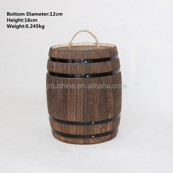 Home Decorative Small Craft Wooden <strong>Barrel</strong> Antique Mini Sorage <strong>Barrel</strong>