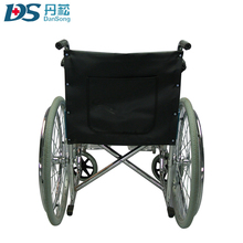 new style hospital footrest 24 inch wheelchair with hand brakes