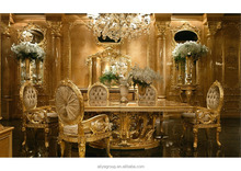 GDM-014 Royal wedding dining table sets baroque dining room luxury furniture carving baroque