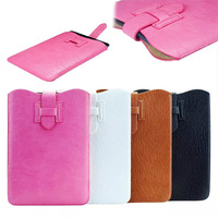 Litchi PU leather pull cord pouch for ipad mini1/2/3