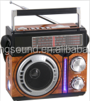 Portable home solar radio with usb sd music player