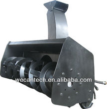 Skid steer loader snow blower; snow blower