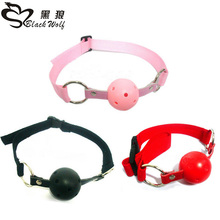 BDSM Adult Products Mouth Ball Gag for men Ribbon Leather Mouth Gag slave Oral Fixation Stuffed Adult Games Flirting SM Sex Toys