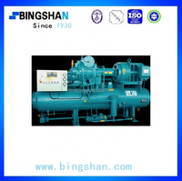 125kw Industrial Open Type Dual-stage Screw Ammonia Refrigeration Compressor