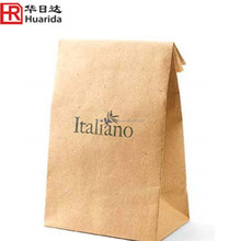 Qingdao Suppli Kraft Paper Snack Delivered Food Packaging Bag With Clear Window And Zipper