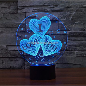 heart balloon romantic bedside cable light adult acrylic led lamp