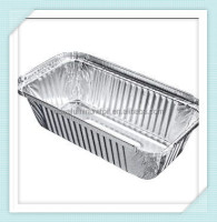 aluminum foil food grade storage containers + lids No.6A takeaway or home