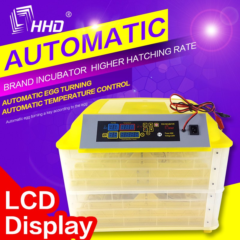 HHD Hot Model Updated display panel Fully Automatic mini egg incubator kerosene operated poultry equipment