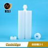 600ml 1:1 Two-component Adhesive Cartridge for sealants, AB adhesives and silicones