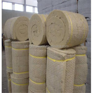 Heat insulation rock wool faced with wire